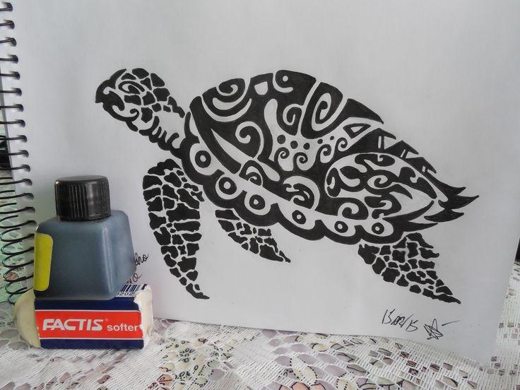 dibujo de tortuga basado en otro con modificaciones amplias