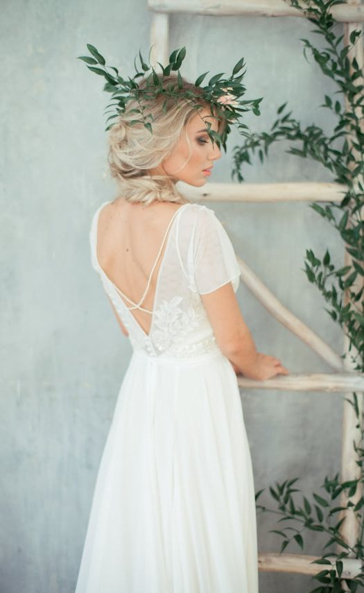 embroidered top wedding dress