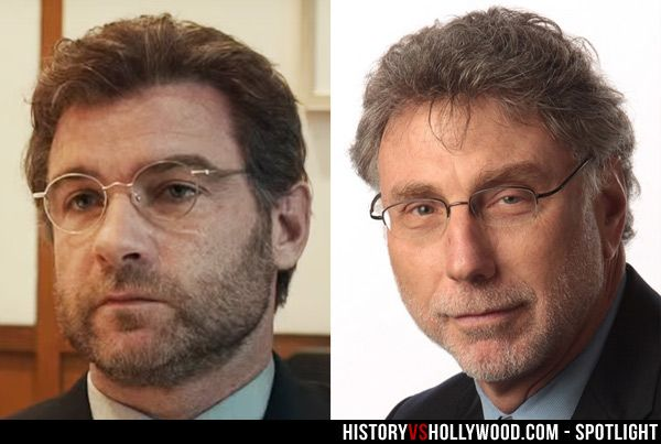 Actor Liev Schreiber and editor Marty Baron. Schreiber portrays Baron in the movie 'Spotlight.' See more pics at: http://www.historyvshollywood.com/reelfaces/spotlight/