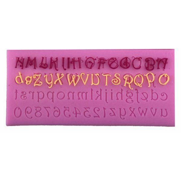 Chic Silicon lettre et le numéro Forme Fondant au chocolat Gâteau Cube Mold