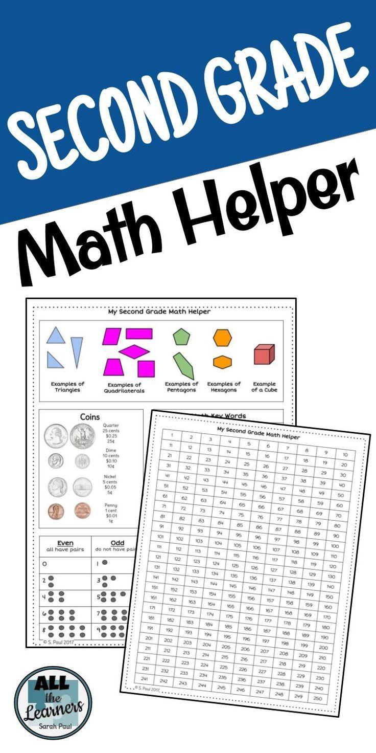 Second Grade Math Helper Common Core Aligned