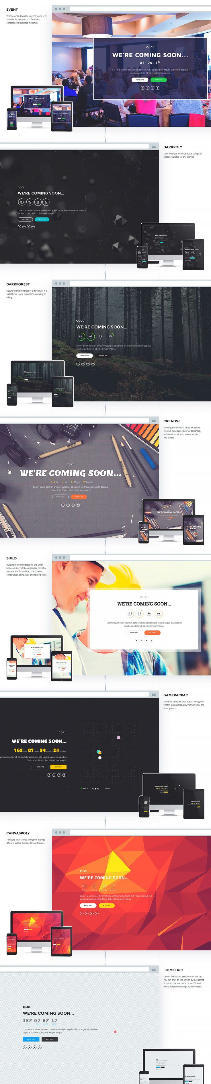 coco is a multi purpose launching soon html template with over 250 layout
