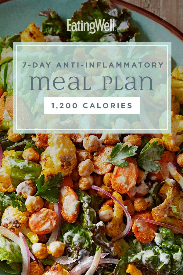 7 Day Anti Inflammatory Diet Meal Plan 1 200 Calories Anti Inflammatory Diet Meal Plan Anti Inflammatory Diet Recipes Wholesome Food