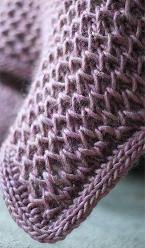 Knitted blanket: waffle knit blanket pattern
