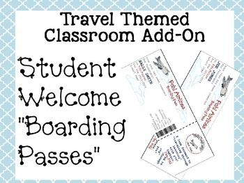 Travel Themed Classroom Add On--Editable Student Welcome ""