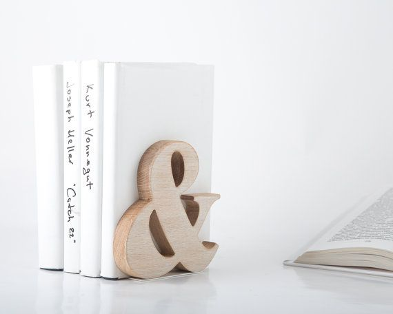 Modern stylish bookend Ampersand Wooden by DesignAtelierArticle, $29.99Ampersand Bookends, Wooden Bookends, Bookends Ampersand, Ampersand Wooden, Ampersand Stuff, Products, Offices Dreams, Stylish Bookends