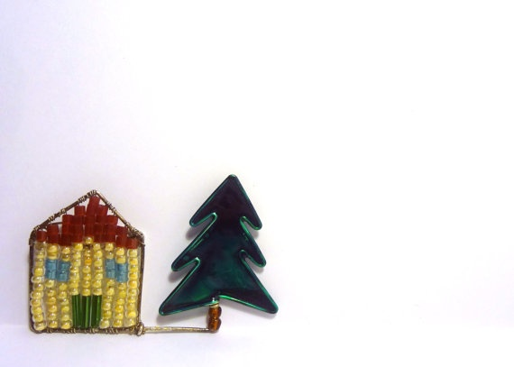 The 'Little House on the Prairie' Brooch by fauxvijoux on Etsy, €11.00