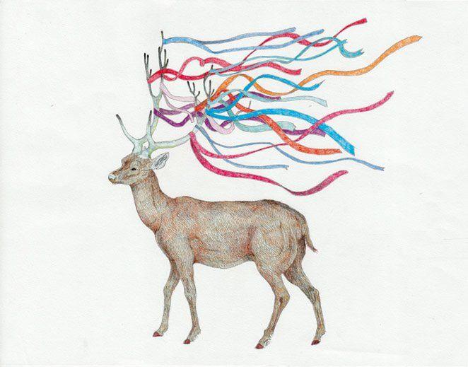 Cover illustration for music album of polish singer MONIKA BRODKA, 2010, by AROBAL