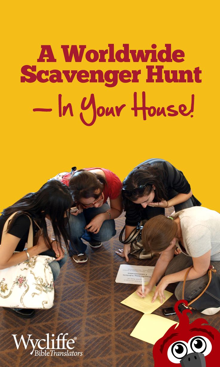 Send kids on a scavenger hunt around the world, right in