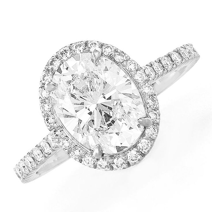 GIA Certified Oval Cut Diamond Engagement Ring 2.00ct Halo Style Platinum #HellzenburgDiamondCo #SolitairewithAccents