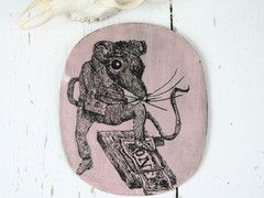 Mouse Trap Ceramic Hanging Plaque