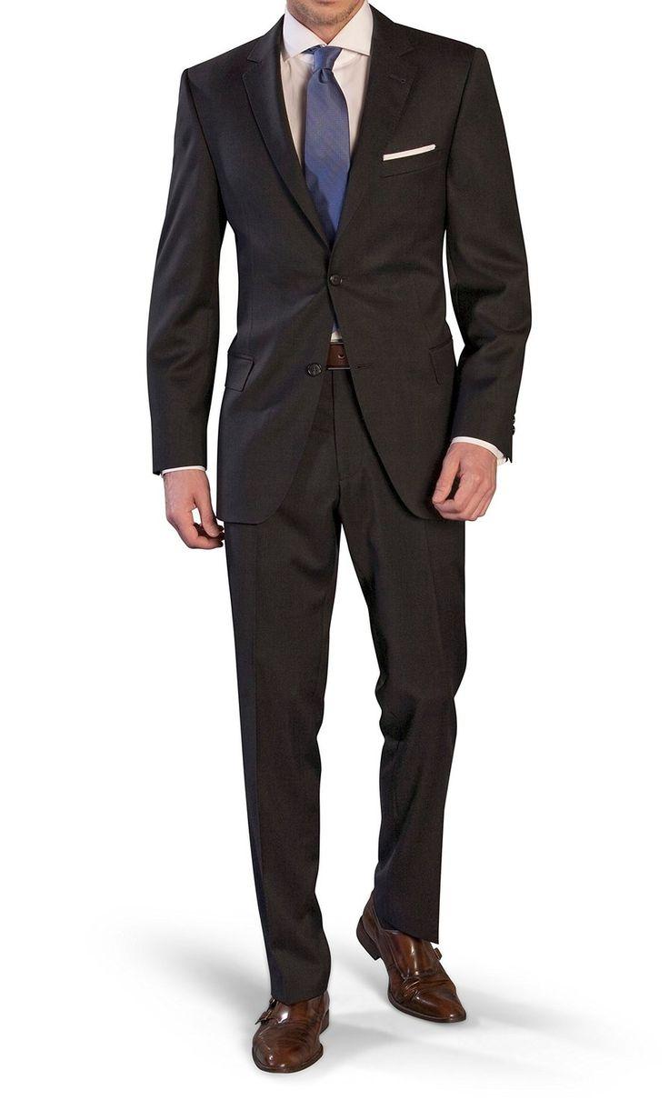 Herren Anzug aus Super120`S Schurwolle in Anthrazit, Marke: Marzotto (Gr. 44-64, 24-32, 90-122): Amazon.de: Bekleidung