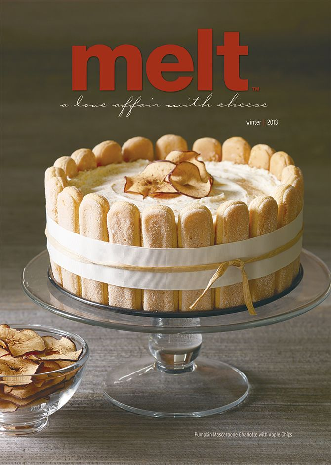 Food Photography of Pumpkin Mascarpone Charlotte with Apple Chips for Tre Stelle Fall/Winter 2013 issue of Melt Magazine [BP imaging - Bochsler Photo Imaging]