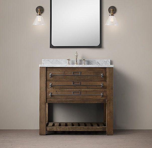Early 20th C. Mercantile Single Vanity Sink