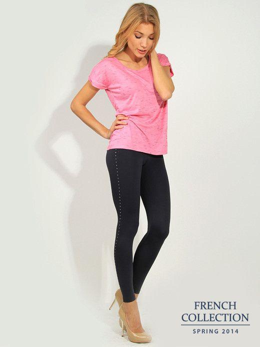 T-shirt różowy Bluzki \ t-shirty French Collection \ Bluzki \ t-shirty Butik 133371