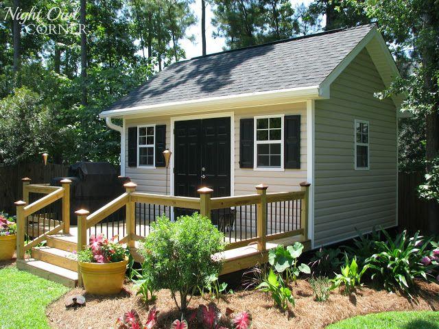 21 best images about sheds on pinterest vinyl sheds for Garden shed on decking