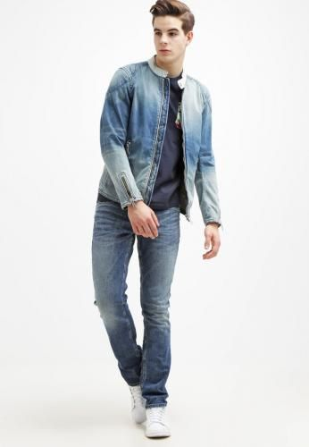 #Jack and jones jjiclark jeans a sigaretta blue Blu  ad Euro 69.95 in #Jackjones #Uomo abbigliamento jeans