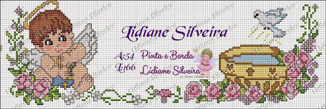 Lidiane Silveira: Anjinhos em ponto Cruz!