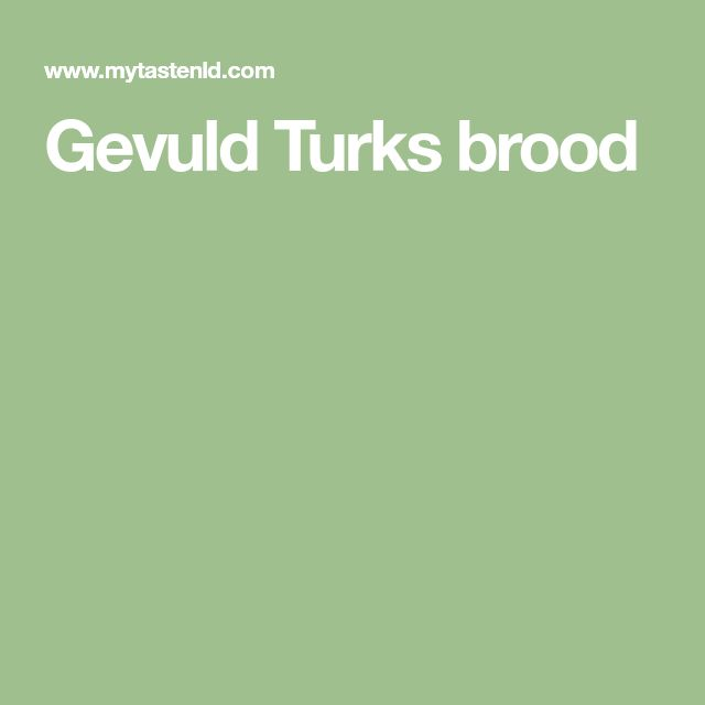 Gevuld Turks brood