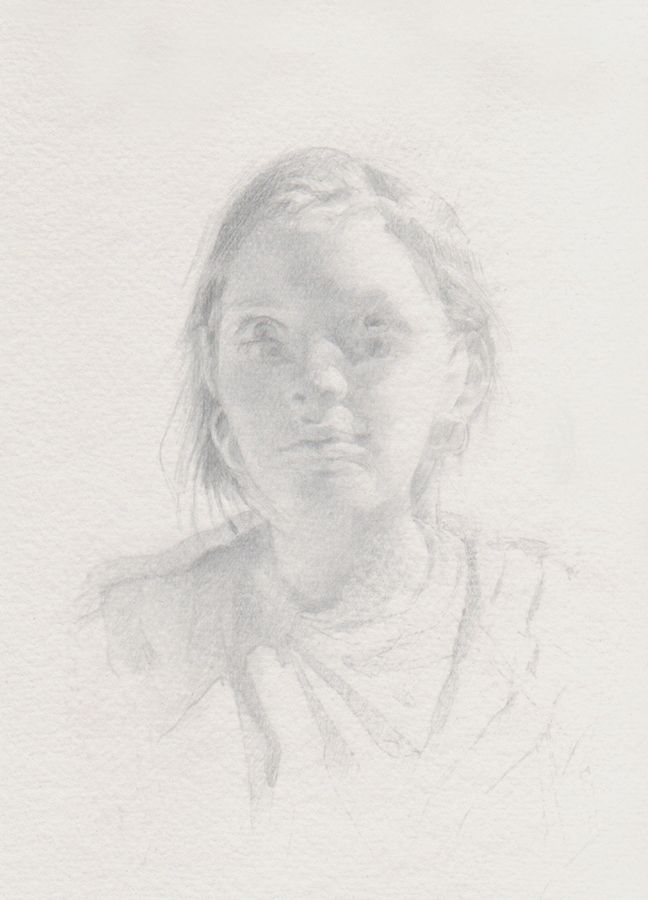 Michael Nichols Silverpoint on paper