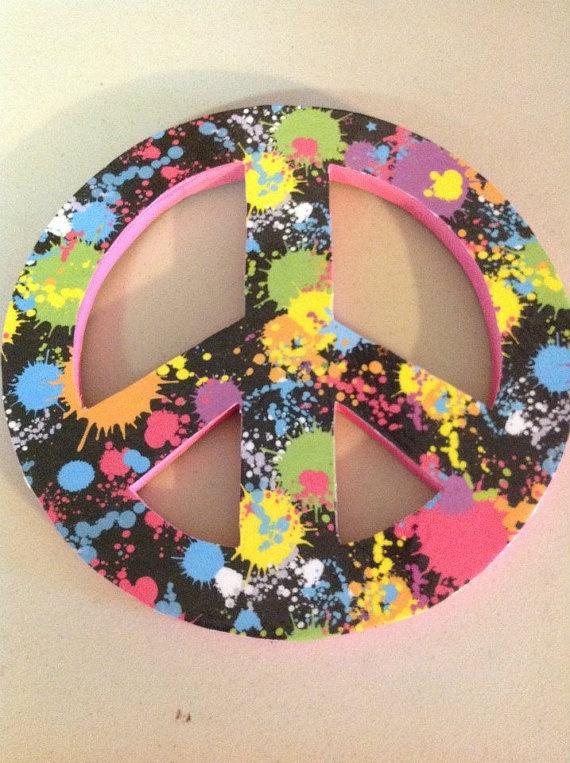 Peace Sign Bedroom Accessories: Peace Sign Wall Decor By TheCrossedCupcake On Etsy, $10.00
