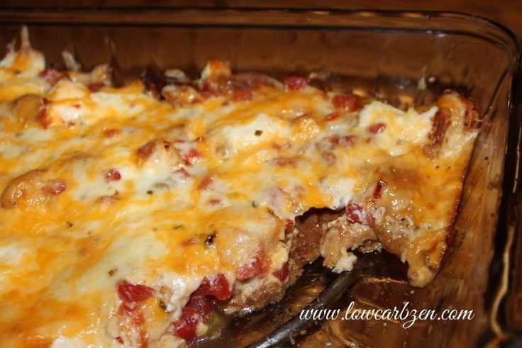 Easy Low Carb Mexican Chicken Casserole from http://lowcarbzen.com / #lowcarb shared on https://facebook.com/lowcarbzen