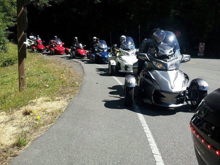 Parade of Can Am Spyders [HelmetCity Pinterest Contest - One with Nature and the Road] #Helmetcity_Contest HelmetCity.com