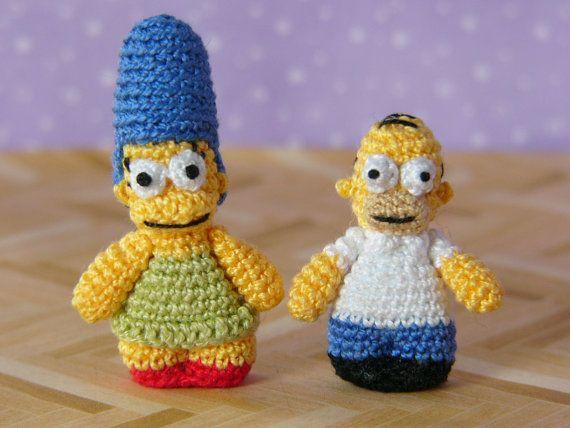 PDF PATTERN Crochet Miniature Homer Simpson crochet/knit ...