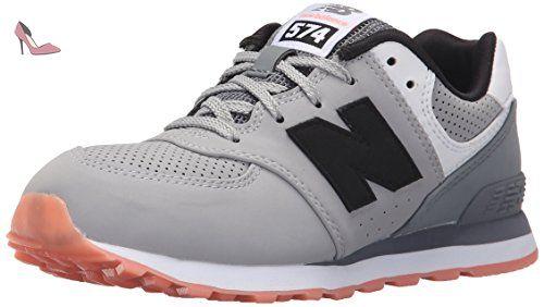 New Balance KL574 State Fair Pre Running Shoe (Little Kid), Grey/Black, 29 W EU - Chaussures new balance (*Partner-Link)