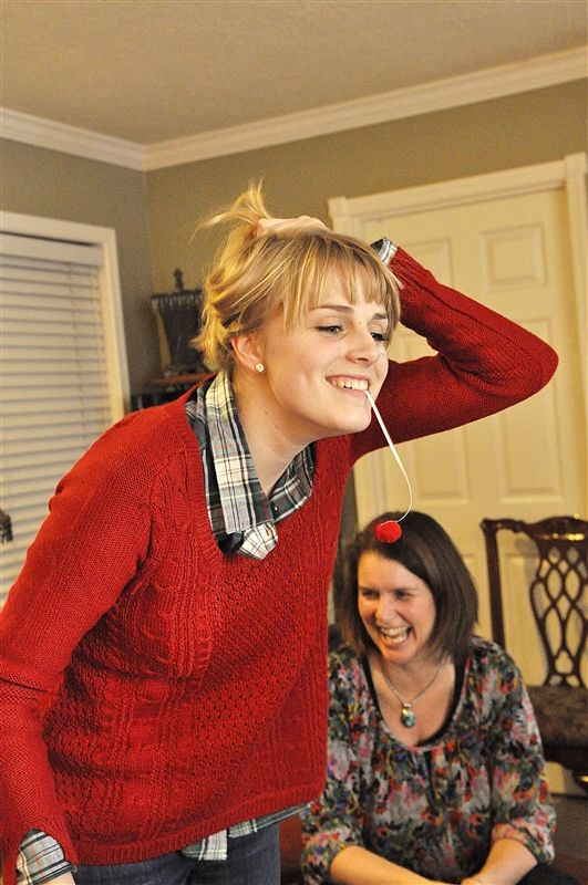 Minute to Win It Crazy Christmas Party Games @Sarah Chintomby Chintomby Pickett the first and second games would be fun