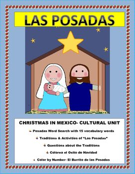 """#ChristmasmexicoThis Cultural lesson on the Posadas is the perfect activity before the holidays. Students will be able to learn about the Christmas in mexico tradition of """"Las Posadas"""" and understand one of the most cherished and beloved holiday traditions for the Mexican peopleGreat SUBSTITUTE lesson plan for the Holidays."""
