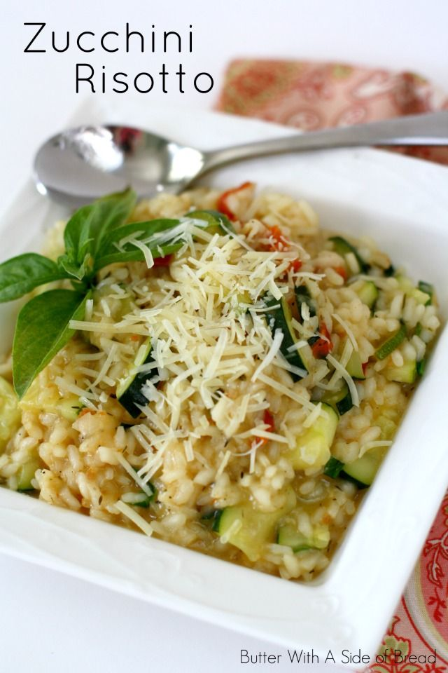 Easy Zucchini Risotto~ so simple and flavorful! A #recipe from the ladies at Butter With A Side of Bread #zucchini
