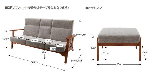 おしゃれな寛ぎ空間 ハイバックリクライニング木肘ソファ 3人掛けの詳細 | ソファスタイル