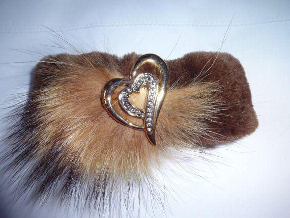 Bracelet de fourrure recyclée en castor rasé & par Fourrureenfolie