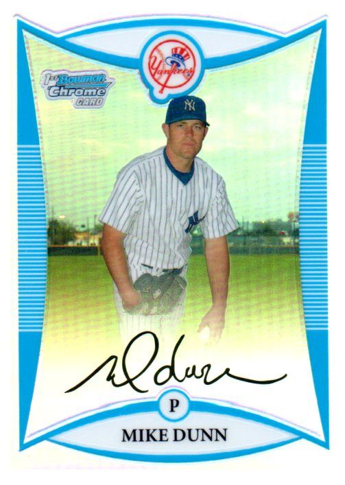 2008 Bowman Chrome Mike Dunn Prospect Refractor /500 New York Yankees