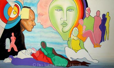 Umanità dolente - © Pina Fiori #art #modernart #painting #dipinto #arte #artlovers #colors