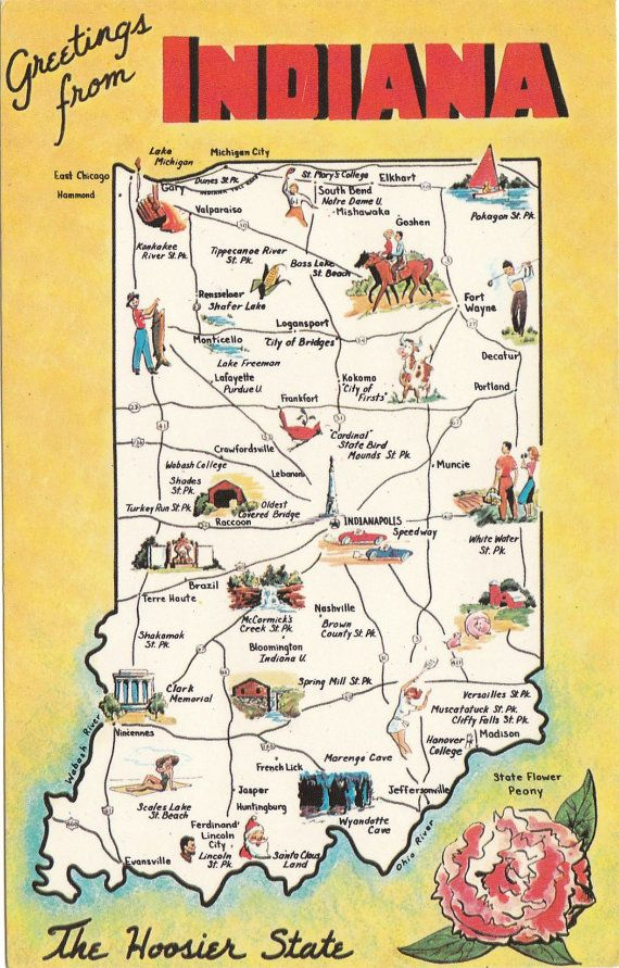 Best Indiana Images On Pinterest Indiana Indiana Girl And - Indiana state usa map