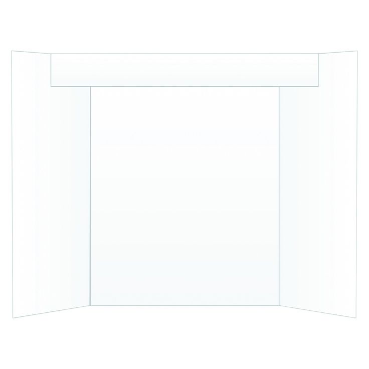 Eco Brites Too Cool Tri-Fold Poster Board, 24 x 36, White/White