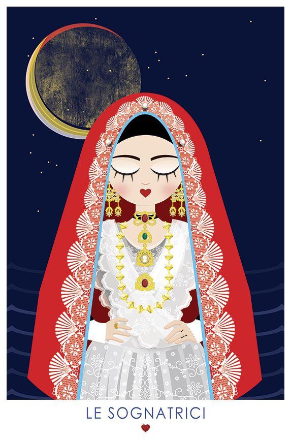Le Sognatrici (Costume di cagliari - Sardegna) © Néula Design