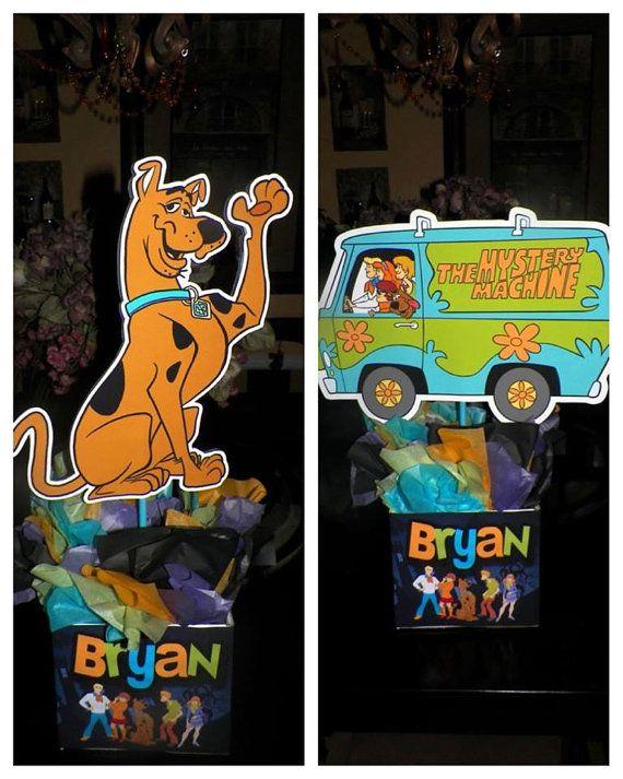 Scooby Doo/Mystery Machine Centerpieces by DashingDigitalDesign, $25.00