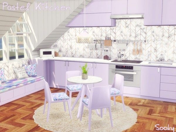 The Sims Resource Pastel Kitchen By Sooky Sims 4 Downloads Ts4
