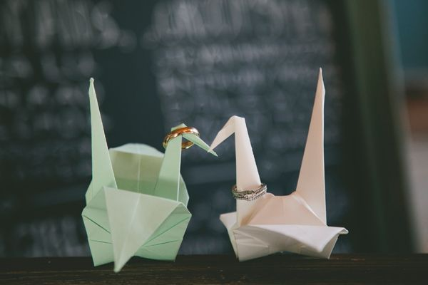 origami cygnes mariage