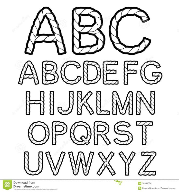 Black White Rope Font Alphabet Stock Images - Image: 34364054