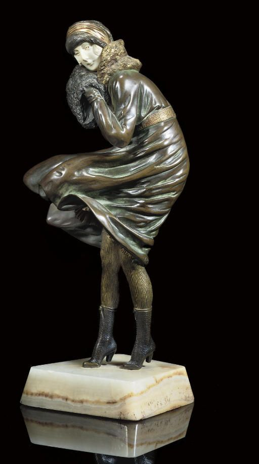 DEMETRE CHIPARUS |  THE SQUALL SCULPTURE, CIRCA 1925