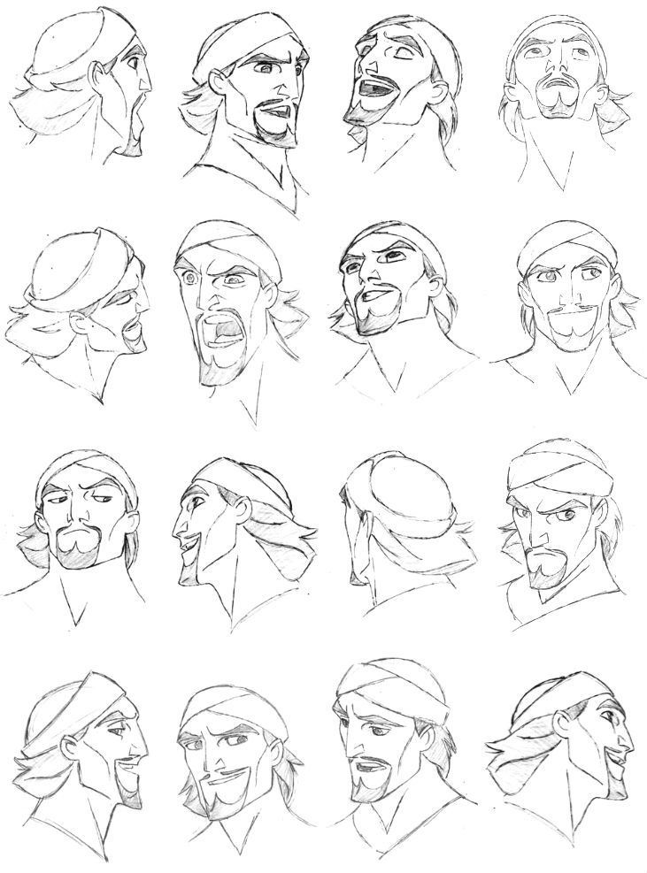 Simbad Expression Sheet by Jakob Jensen ✤ || CHARACTER DESIGN REFERENCES | キャラクターデザイン | çizgi film • Find more at https://www.facebook.com/CharacterDesignReferences