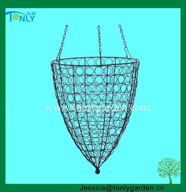 wire hanging planter baskets - Google Search