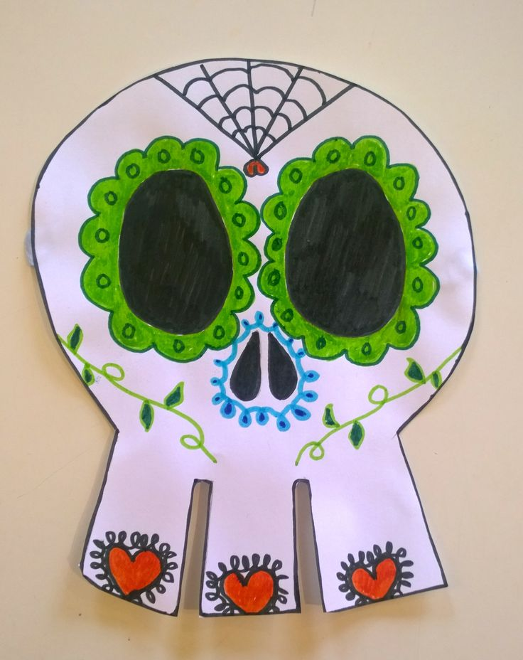 """To see how to make a """"Day of the Dead Skull"""" click on the one below!"""