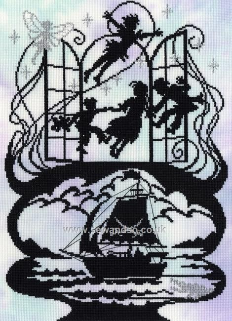 Buy Peter Pan Cross Stitch Kit Online at www.sewandso.co.uk