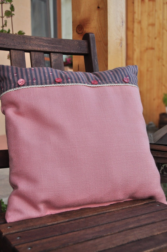 Rose dream pillow with insert  cute buttons by AliCards on Etsy, $21.00