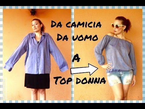 Come trasformare una CAMICIA da uomo in un TOP donna -Tutorial by Diana Toto - YouTube